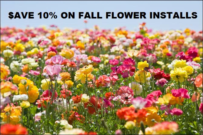 "Flower installs Avon CT, Farmington CT, Burlington CT, Cheshire CT, Farmington CT, Berlin CT, Kensington CT, Canton CT, Plainville CT, Bristol CT, Southington CT, Plantsville CT ""SEEDING"" in New Britain CT, Meriden CT, Farmington Valley Connecticut and Middlesex County."